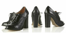 TOPSHOP LEATHER LACE UP RETRO BROGUE ANKLE BOOTS SHOES UK 5 EUR 38 US 7.5