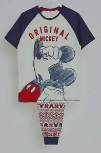 Asda Disney Mickey Mouse Pyjamas pjs Mens Small Christmas day Disney Family BNWT