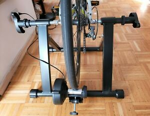 Folding Bike Trainer Stand Magnetic Resistance 8 Speed Indoor Exercise Black