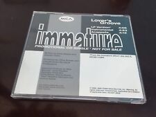 Immature - Lover's Groove Promo CD Single 1996 MCA Records MCA5P-3606 Swing R&B