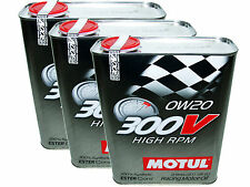 (6L=6.34 QT) MOTUL 300V 0W20 HIGH RPM RACING 100% SYNTHETIC ENGINE OIL