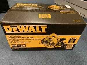 "NEW DeWALT 7-1/4"" Corded Lightweight Circular Saw w/ Electric Brake (DWE575SB)"
