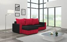 Corner Sofa Bed  BLACK and RED &