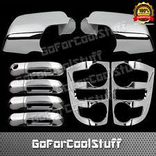 For 07-09 Ford Explorer 4Drs Handle+Full Mirror+Tail Light Bezel Chrome Cover