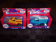two 1991 limited edition team collectible Blue Jays, Angels mip matchbox