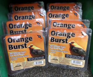 8 PACK - Heath Orange Burst Songbird Suet Beef Suet 11.25 oz.