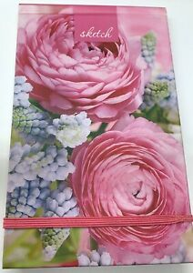 Beautiful Sketch Notebook Contains Plain Cream Paper Hardback Floral Cover