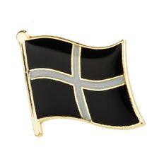 CORNWALL CORNISH ST PIRAN FLAG METAL AND ENAMEL PIN BADGE BRAND NEW FREE POST