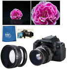 Ultra Wide Angle Macro Lens for Canon EFM 50mm 1.8 STM 15-45mm EOS M6 M50 M100