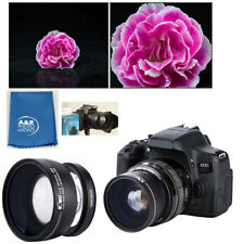 0.45x Wide Angle Conversion Lens with Macro Canon EOS M100 M10 M6 M5 15-45mm KIT
