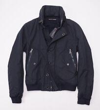 NWT $895 RALPH LAUREN BLACK LABEL Dark Navy Cotton Flight Jacket M Zip-Out Hood