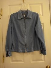 Women's Pendleton Knockabouts Denim Light Weight Zip Front Jean Jacket Size 12