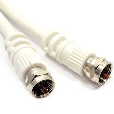 1.5m Satellite F Connector Digital Coaxial F-F White Cable Lead for Sky/Virgin
