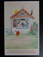 Belgium Comic Postcard DOGS AT WINDOW Je voudrais aussi l'avoir si joli - Old PC