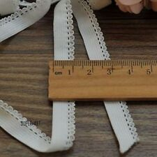 10M Hollow Lace Elastic Band Knickers Lingerie Ribbon Trim Sewing Ivory 10mm New