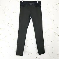 Joes Jeans Skinny Jeans Size 29 Black Coated Dark Wash Two Tone Mid Rise Stretch
