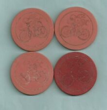 New listing Vintage Lot of 4 Cupid On Bicycle Poker Chips