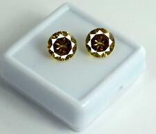 Yellow Sapphire Gemstone Matching Pair 5 Ct AGSL Certified Natural Round 2 Pcs