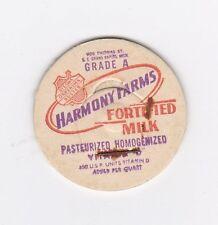 MILK BOTTLE CAP. HARMONY FARMS. S. E. GRAND RAPIDS, MI. DAIRY