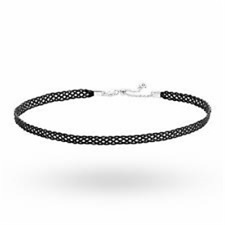 "Genuine Pandora Woven Fabric Choker Black Size 12.6"" Adjustable Os 590543Cbk-32"