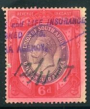 SOUTH AFRICA;  Early 1900s GV Revenue issue fine used 6d. value