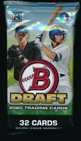 2020 BOWMAN DRAFT CHROME BASEBALL JUMBO HOBBY PACK (1) BRAND NEW FACTORY SEALED
