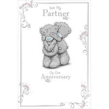 For My PARTNER on our Anniversary - Medium  -  Tatty Teddy Me to You - Card