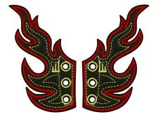 Shwings - Wings For Your Trainers - Black Foil Flames