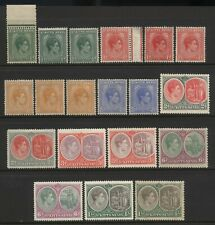 St Kitts Nevis 1938 Collection 19 KGVI Values Mounted Mint