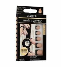 L'oreal Loreal False Flex Nail Tip Natural Black French Manicure Killer Nude 002