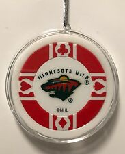 Minnesota Wild Poker Chip Christmas Tree Ornament Holiday NHL Hockey