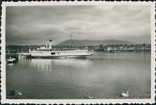 """Suisse, Genève, bateau à vapeur le """"Simplon"""" Vintage silver print Tirage argen"""