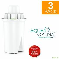 3 Aqua Optima Universal fits BRITA Classic Water Refill Replace Filter Cartridge