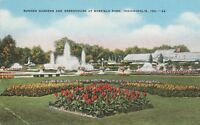 *(Q)  Indianapolis, IN - Sunken Gardens, Fountain and Greenhouse - Garfield Park