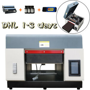 A3 UV Flatbed  Printer Cylindrical Signs Glass Metal Rotation DTG Printer