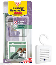 HANGING MOTH KILLER TWIN PACK FRAGRANCE FREE PROTECTS ALL NATURAL FABRICS
