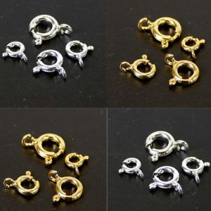 Federring Verschluss mit Öse 925er Silber / vergoldet 1 Stück Schmuckzubehör