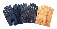 TOP QUALITY REAL SOFT LEATHER MEN'S UNLINED DRIVING STYLISH FASHION GLOVES D-513