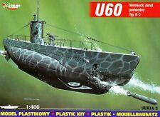 U-BOOT U 60 TYPE II C - WW II GERMAN SUBMARINE (KRIEGSMARINE MKGS) 1/400 MIRAGE
