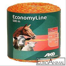 AKO EconomyLine Weidezaunlitze - 500m gelb/orange