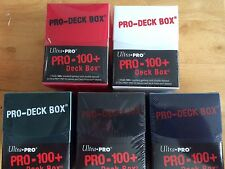 3X ULTRA PRO PRO-100+ DECK BOX YOU CHOOSE COLORS! NEW MTG MAGIC COMMANDER YUGIOH