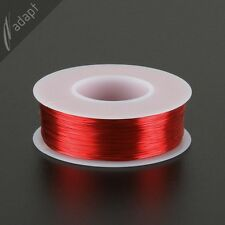 29 AWG Gauge Magnet Wire Red 625' 155C Solderable Enameled Copper Coil Winding