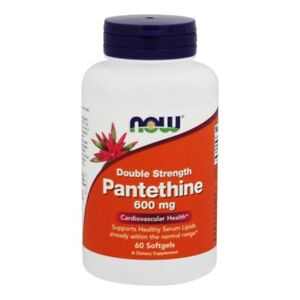 NOW Foods Pantethine Double Strength 600 mg., 60 Softgels