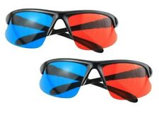 3D Glasses - 2 Pair - Plastic Frames and Lenses -  Anaglyph red/blue 3-D Format