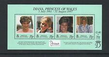 Tristan da Cuha 1999 Diana Commem Sheet. MINT/MNH One postage for multi buys.