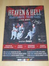BLACK SABBATH -  RONNIE JAMES DIO - 2007  Australian Tour AUTOGRAPHED  Poster