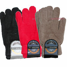 WOMENS LADIES GLOVES KNITTED PATTERN & PLAN STRETCH SOFT MATERIAL ACRYLIC