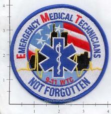 New York - 9-11-01 EMT Not Forgotten  9-11 343 NY Fire Patch WTC
