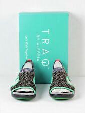 TRAQ By Alegria Womens Smart Walking Sandals Funplex Lime Qeen US9.5-10 EU40