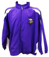Minnesota Vikings NFL Mens Full Zip Windbreaker Jacket Purple Big Sizes